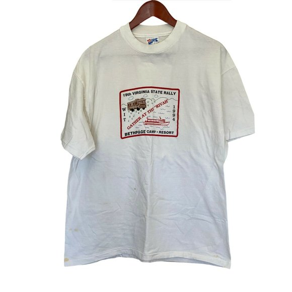 Bethpage Camp Resort 1994 Vintage T-Shirt Men XL